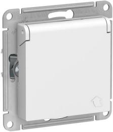 Розетка с крышкой AtlasDesign (белый) ATN000146