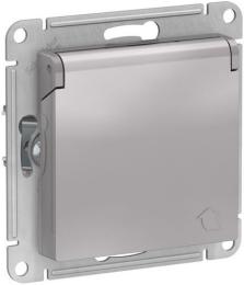 Розетка с крышкой AtlasDesign (алюминий) ATN000346
