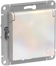 Розетка с крышкой AtlasDesign (жемчуг) ATN000446