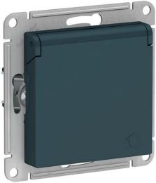 Розетка с крышкой AtlasDesign (изумруд) ATN000846