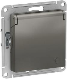 Розетка с крышкой AtlasDesign (сталь) ATN000946