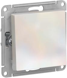 Выключатель одноклавишный AtlasDesign (жемчуг) ATN000411