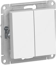 Выключатель двухклавишный AtlasDesign (белый) ATN000151