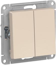 Выключатель двухклавишный AtlasDesign (бежевый) ATN000251