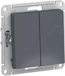 Проходной двухклавишный переключатель AtlasDesign (грифель) ATN000765