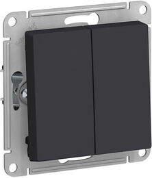 Проходной двухклавишный переключатель AtlasDesign (карбон) ATN001065