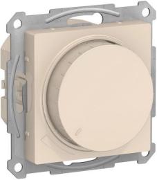 Светорегулятор поворотно-нажимной 20-630 Вт AtlasDesign (бежевый) ATN000236