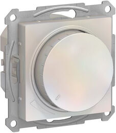 Светорегулятор поворотно-нажимной 20-630 Вт AtlasDesign (жемчуг) ATN000436
