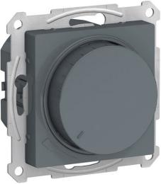 Светорегулятор поворотно-нажимной 20-630 Вт AtlasDesign (грифель) ATN000736