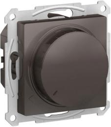 Светорегулятор поворотно-нажимной 20-630 Вт AtlasDesign (мокко) ATN000636