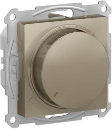 Светорегулятор поворотно-нажимной 20-630 Вт AtlasDesign (шампань) ATN000536