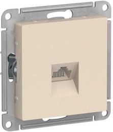 Розетка компьютерная RJ45 AtlasDesign кат. 5e (бежевый) ATN000283