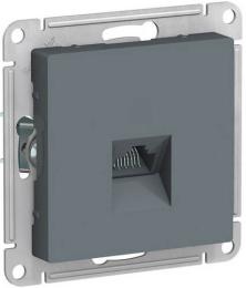 Розетка компьютерная RJ45 AtlasDesign кат. 5e (грифель) ATN000783