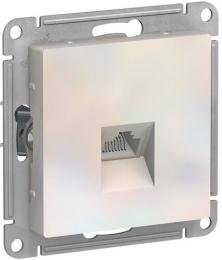 Розетка компьютерная RJ45 AtlasDesign кат. 5e (жемчуг) ATN000483