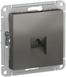 Розетка компьютерная RJ45 AtlasDesign кат. 5e (сталь) ATN000983