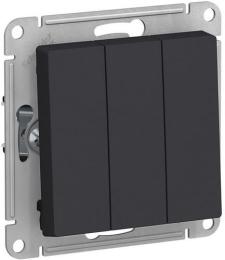 Выключатель трехклавишный AtlasDesign (карбон) ATN001031