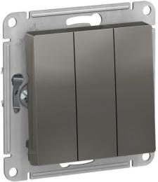 Выключатель трехклавишный AtlasDesign (сталь) ATN000931