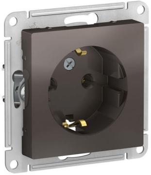 Розетка с заземлением AtlasDesign (мокко) ATN000643