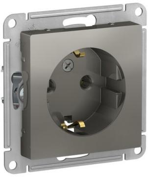 Розетка с заземлением AtlasDesign (сталь) ATN000943