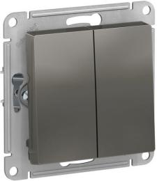 Проходной двухклавишный переключатель AtlasDesign (сталь) ATN000965