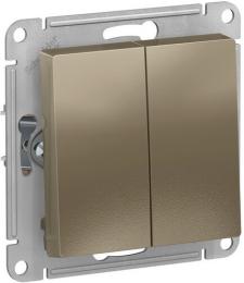 Проходной двухклавишный переключатель AtlasDesign (шампан) ATN000565