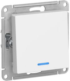 Выключатель одноклавишный с подсветкой AtlasDesign (белый) ATN000113