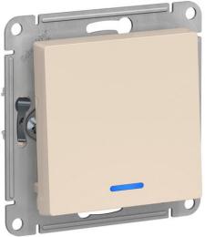 Проходной одноклавишный переключатель с подсветкой AtlasDesign (бежевый) ATN000263