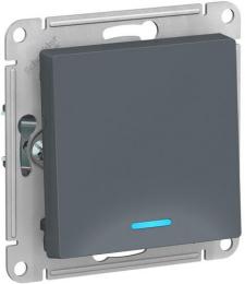 Выключатель одноклавишный с подсветкой AtlasDesign (грифель) ATN000713