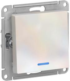 Проходной одноклавишный переключатель с подсветкой AtlasDesign (жемчуг) ATN000463