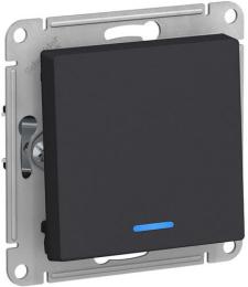 Выключатель одноклавишный с подсветкой AtlasDesign (карбон) ATN001013