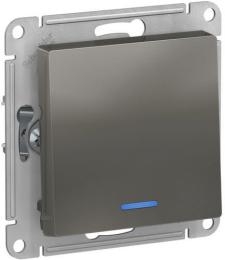 Проходной одноклавишный переключатель с подсветкой AtlasDesign (сталь) ATN000963