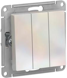 Выключатель трехклавишный AtlasDesign (жемчуг) ATN000431