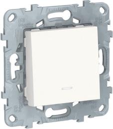 Выключатель одноклавишный с подсветкой Unica New (белый) NU520118N