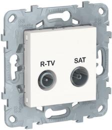 Розетка R-TV/SAT Unica New простая (белый) NU545418