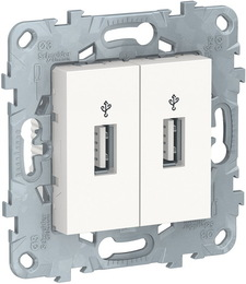 USB-коннектор Unica New (белый) NU542718