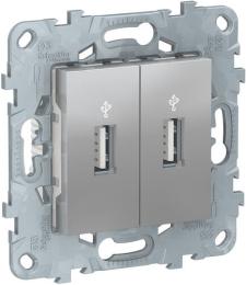 USB-коннектор Unica New (алюминий) NU542730