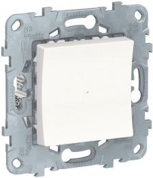 Одноклавишный кнопочный выключатель с подсветкой Unica New (белый) NU520618N