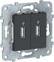 USB-коннектор Unica New (антрацит) NU542754