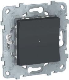Светорегулятор нажимной 7-200 Вт Unica New (антрацит) NU551554