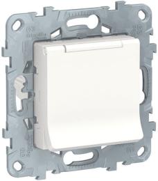 Розетка с крышкой Unica New (белый) NU503718TA