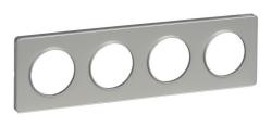 Рамка Odace четырехместная (алюминий/алюминиевая вставка) S53P808
