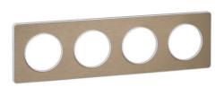 Рамка Odace четырехместная (полированная бронза/белая вставка) S52P808L