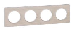 Рамка Odace четырехместная (бук/белая вставка) S52P808M