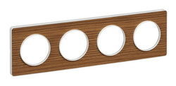 Рамка Odace четырехместная (ольха/белая вставка) S52P808N