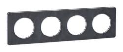 Рамка Odace четырехместная (сланец/алюминиевая вставка) S53P808V