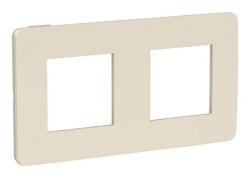 Рамки Unica Studio Color двухместная (бежевый / бежевый) NU280444