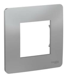 Рамки Unica Studio Color одноместная монолитная (алюминий) NU200230