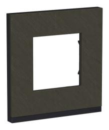 Рамка Unica Pure одноместная (камень / антрацит) NU600287