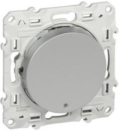 Переключатель одноклавишный с подсветкой Led Odace (алюминий) S53R263