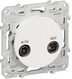 Розетка R-TV/SAT одиночная Odace (белый) S52R454
